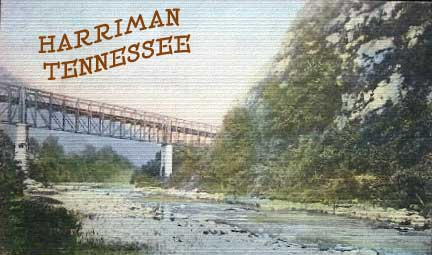 early cincinatti sourthern rr bridge into harriman